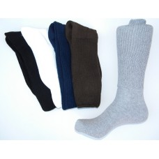 Size 6-9 100%  Cotton Comfort Top Crew Socks