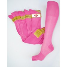 Fuchsia pink sheer patterned nylon knee high dress socks-Size 8-12