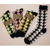 Houndstooth cotton dress socks Men'..