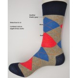 Heather khaki red blue combed cotto..