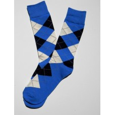 Royal Blue Cotton Navy Argyle socks- Men's