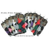 12 Pairs Assorted Argyle Dress Sock..