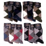 12 Small Mens Assorted Cotton Argyl..