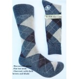 Charcoal Brown Ivory Cotton Argyle ..