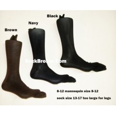 6 pack of 13-17 Florsheim nylon microfiber dress socks Size