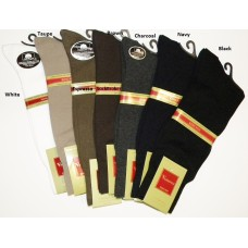 Premium Big And Tall Solid Mercerized Cotton Dress Socks
