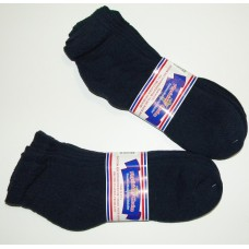 6 pairs 13-16 Navy U.S.A Made Ankle Cotton Diabetic Crew socks