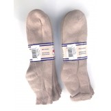 6 pairs 13-16 Beige U.S.A Made Ankl..