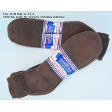 6 pairs 13-15 Brown U.S.A Made Ankl..