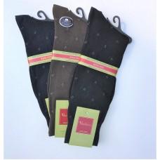 3 Pairs Big & Tall Mercerized Cotton Dress Socks 13 -16