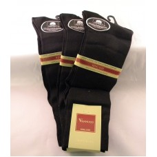 Sale!! 3 Pairs Black Big Tall Mercerized Cotton Dress Socks