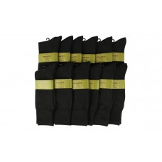 12 pack of Black Fine Fit Cotton Thin Dress socks