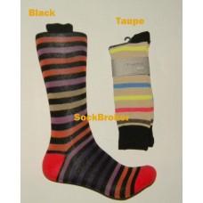 Finefit Striped cotton dress casual socks