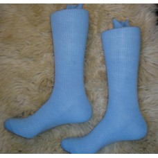 Sockbroker ribbed powder blue dress socks