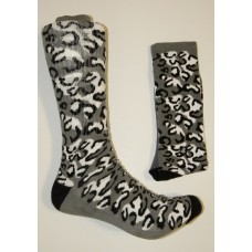 Size 9-13 Padded Cheetah Camouflage Cotton Crew Socks