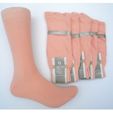 Light Salmon peach mercerized cotton dress socks