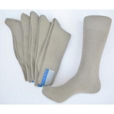 6 pairs groomsmenTaupe/Khaki woven cotton dress socks size 8-12 Men's
