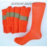 6 pack groomsmen cotton orange dres..