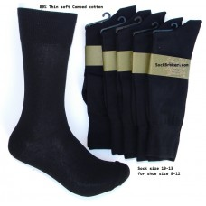 $ale!!!  6prs  Black cotton dress socks-Men's