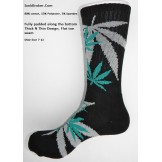 Black marijuana leaf padded  thick ..