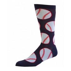 Novelty Baseball cotton Navy crew socks