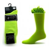 Premium lime green cotton solid dre..
