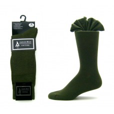 Premium olive green cotton dress socks-Men's