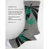 Charcoal gray marijuana leaf padded..