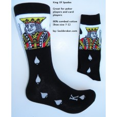 King of spade gambler cotton dress socks size 8-12