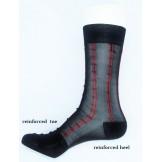 Sheer nylon black dress socks with ..