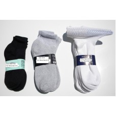 6 Pack Comfort top diabetic Ankle crew athletic socks