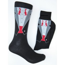 Open shirt tuxedo cotton dress socks size 8-12