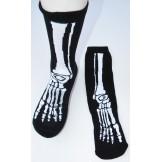 Skeleton leg bone cotton crew socks..