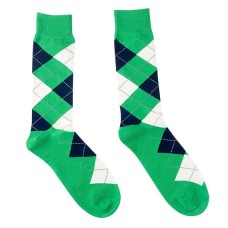 Kelly Green Cotton Argyle Dress Socks