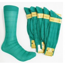 Emerald Green textured rayon formal dress socks by Origins size 8-12