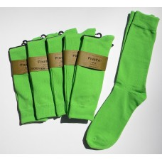 Light Kelly Green Cotton Dress Socks-Men's