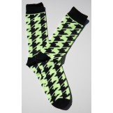 Mint  Neon Green Hounds Tooth Cotto..