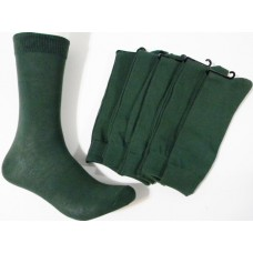Solid Hunter Forrest Green Cotton Dress Socks
