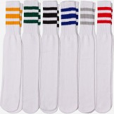 19 inch White tube socks with old s..