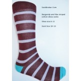 Burgundy with lilac cotton striped ..