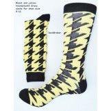 Black and yellow hounds-tooth cotto..