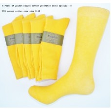 Gold Cotton Dress Socks Men's 7-12