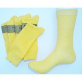 True Yellow Men's Cotton Dress Sock..