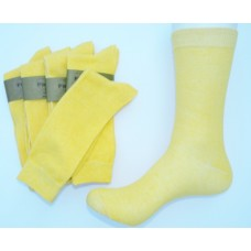 True Yellow Men's Cotton Dress Socks