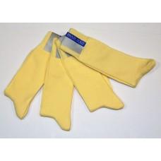 6 pairs groomsman yellow woven cotton dress socks size 8-12 Men's