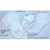 12 Pack of 80% cotton terry lined t..