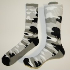 Size 9-13 Padded Camouflage Cotton Crew Socks By Brass Boot