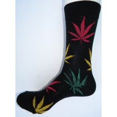 Marijuana leaf dress socks size 6-12