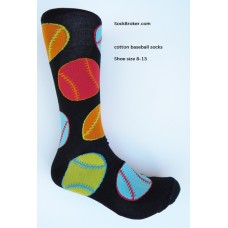 Novelty colorful Baseball cotton crew socks