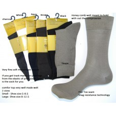 SZ 5-9 Premium Mercerized cotton comfort top diabetic dress socks